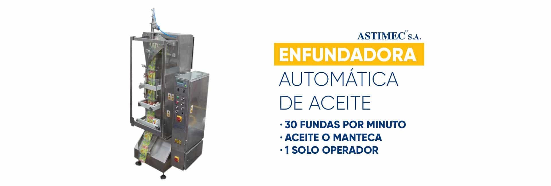 Enfundadora automática de Aceite ASTIMEC