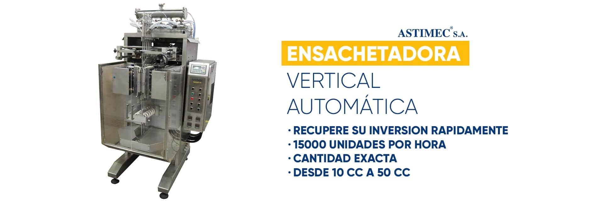 Ensachetadora Vertical Automática ASTIMEC