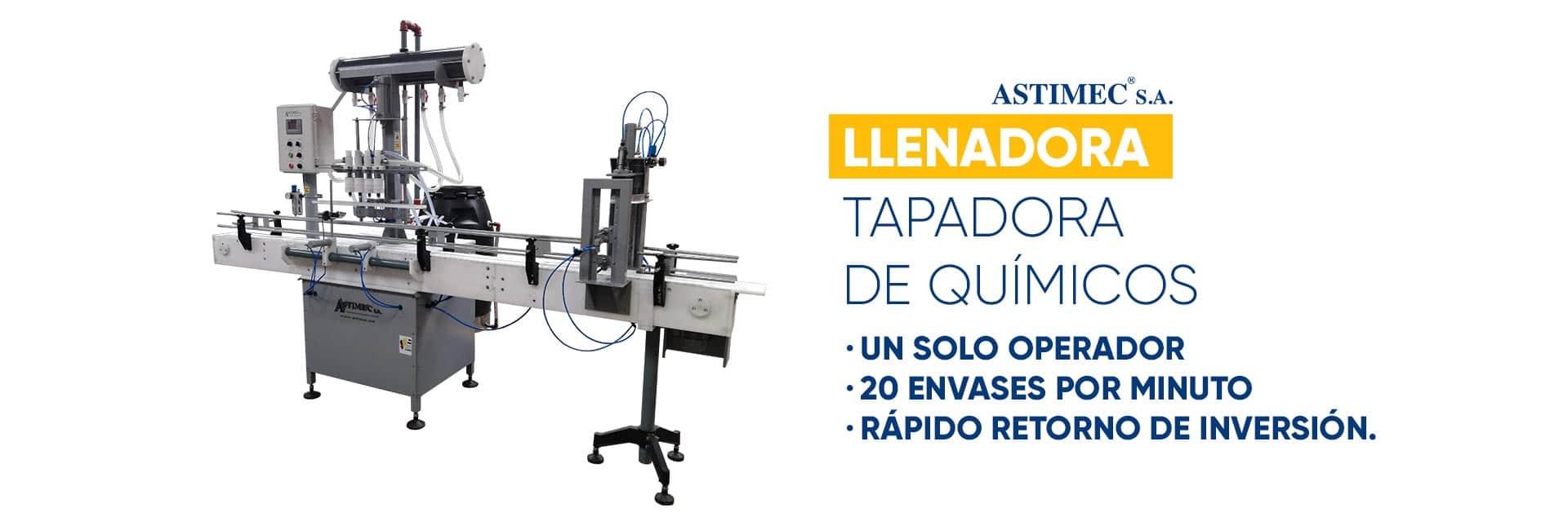 Llenadora Tapadora para Químicos ASTIMEC